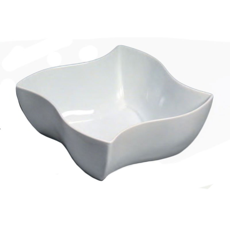 American Metalcraft SQVY12 12-in Bowl w/ 228-oz Capacity, Porcelain/White