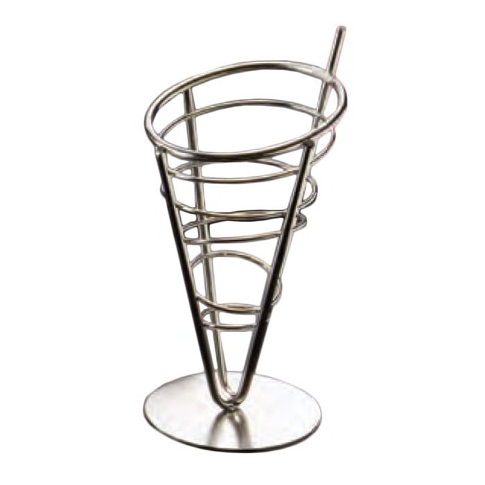 American Metalcraft SS59 5-in Conical Basket w/ 1-Cone Capacity, Stainless
