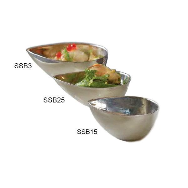 American Metalcraft SSB25 4-oz Egg-Shaped Bowl - Mirror-Finish Stainless