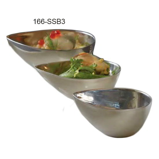 American Metalcraft SSB3 3-oz Egg-Shaped Bowl - Mirror-Finish Stainless