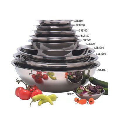 American Metalcraft SSB400 10.5-in Mixing Bowl w/ 4-qt Capacity, Stainless