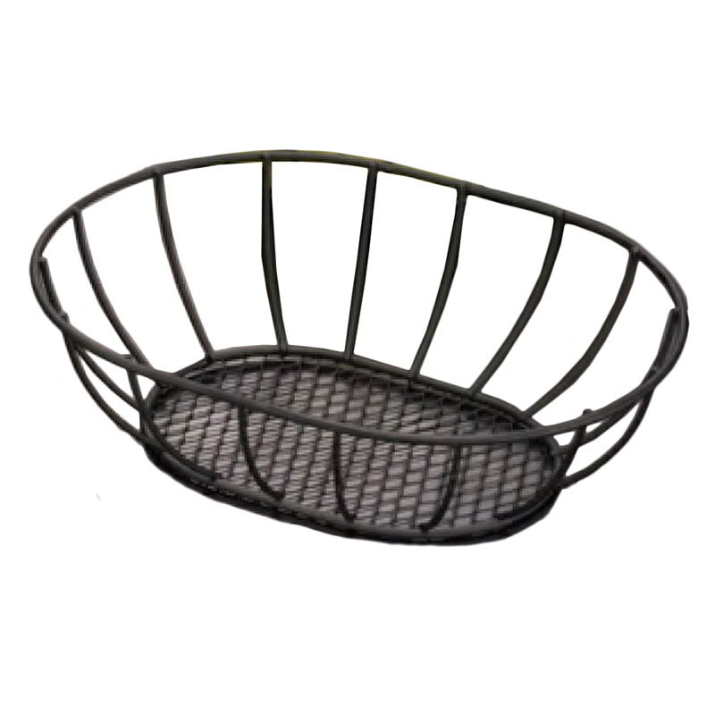 "American Metalcraft SSB96 Straight Sided Basket, 6x9"", Mesh"