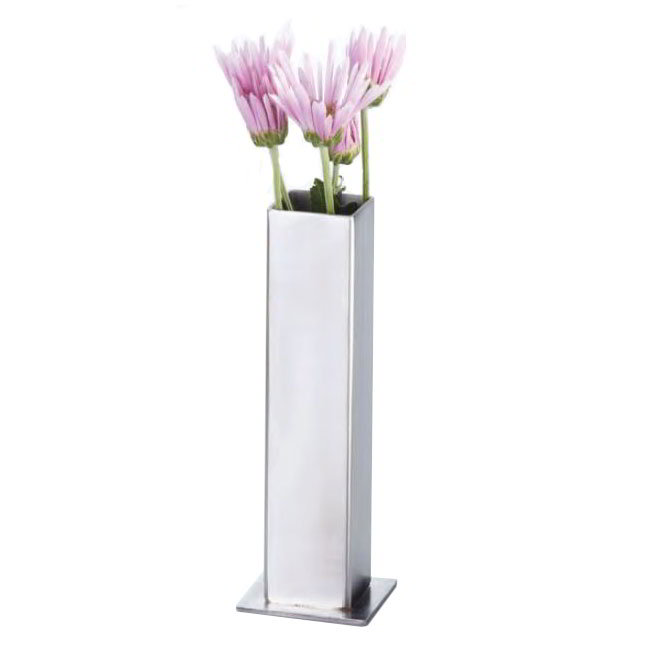 American Metalcraft SSBV1 Square Bud Vase, Satin Finish, Stainless