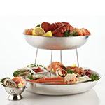 "American Metalcraft SSEA12 12"" Round Seafood Tray w/ 118-oz Capacity, Stainless"
