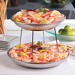 """American Metalcraft SSEA14 13.75"""" Round Seafood Tray w/ 169-oz Capacity, Stainless"""