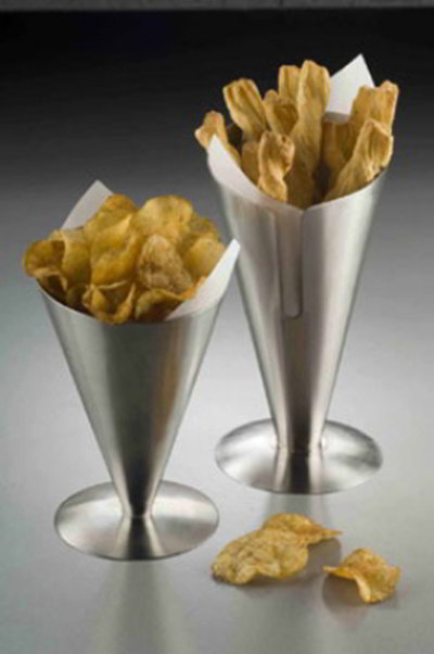 American Metalcraft SSFC7 7 in H Fry Cone Holder/Stand Stainless Steel Restaurant Supply