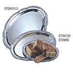 American Metalcraft STOV128 Affordable Elegance Serving Tray, Oval, 12 x 8 in, Embossed, Chrome STOV128
