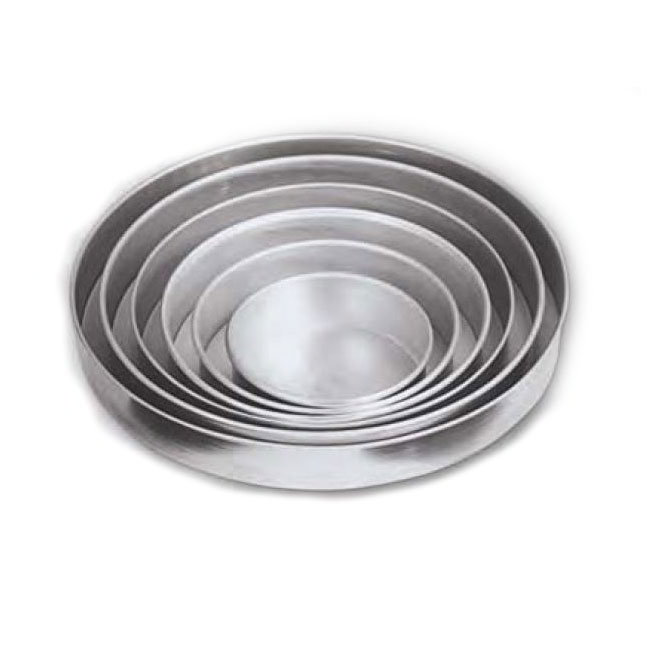 "American Metalcraft T80102 10"" Solid Straight Sided Pizza Pan, 2"" Deep, Tin/Steel"