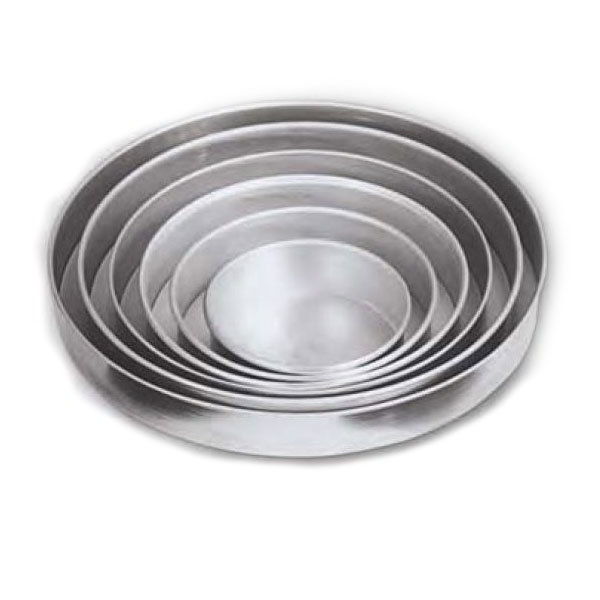 "American Metalcraft T80142 14"" Solid Straight Sided Pizza Pan, 2"" Deep, Tin/Steel"