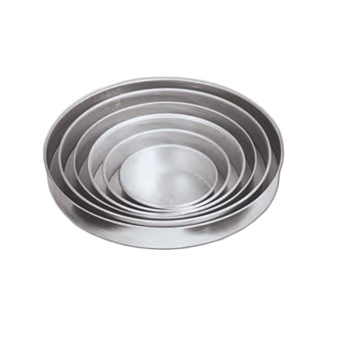 American Metalcraft T80162 16-in Solid Straight Sided Pizza Pan, 2-in Deep, Tin/Steel