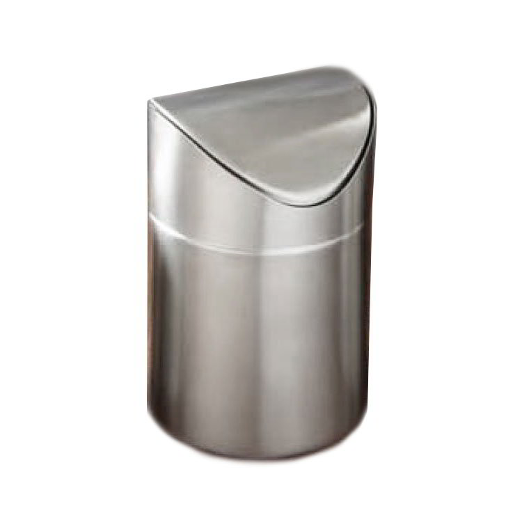 American Metalcraft TIM1 4.5-in Round Waste Bin, Brushed, Stainless