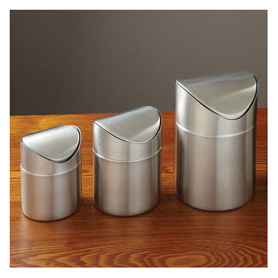 American Metalcraft TIM4 Round Waste Basket - Metal, Stainless