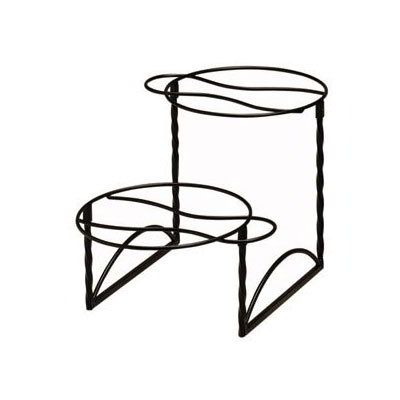 "American Metalcraft TLTS1224 2-Tier Display Stand w/ Handle On Opposite Side, 12x24"", Wrought Iron/Black"