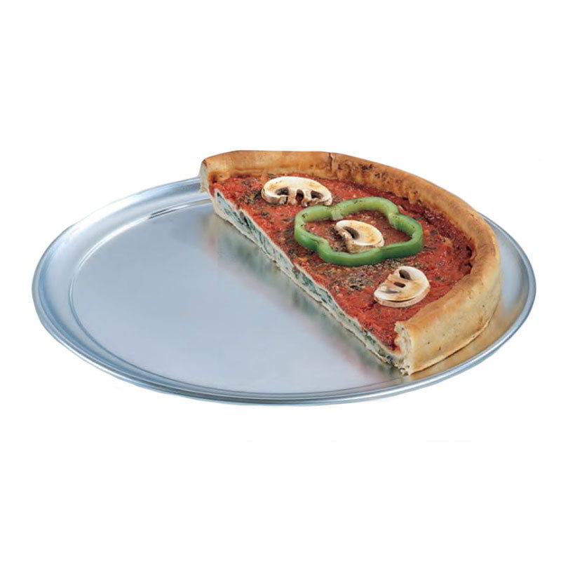 "American Metalcraft TP10 10"" Wide Rim Pizza Pan, Solid, Aluminum"