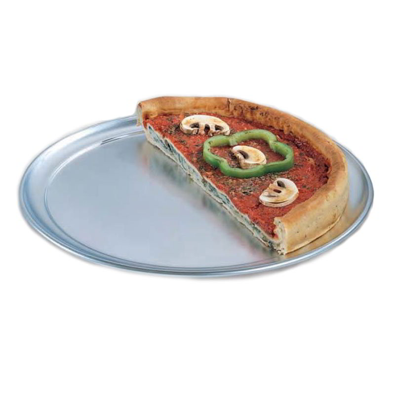 "American Metalcraft TP12 12"" Wide Rim Pizza Pan, Solid, Aluminum"