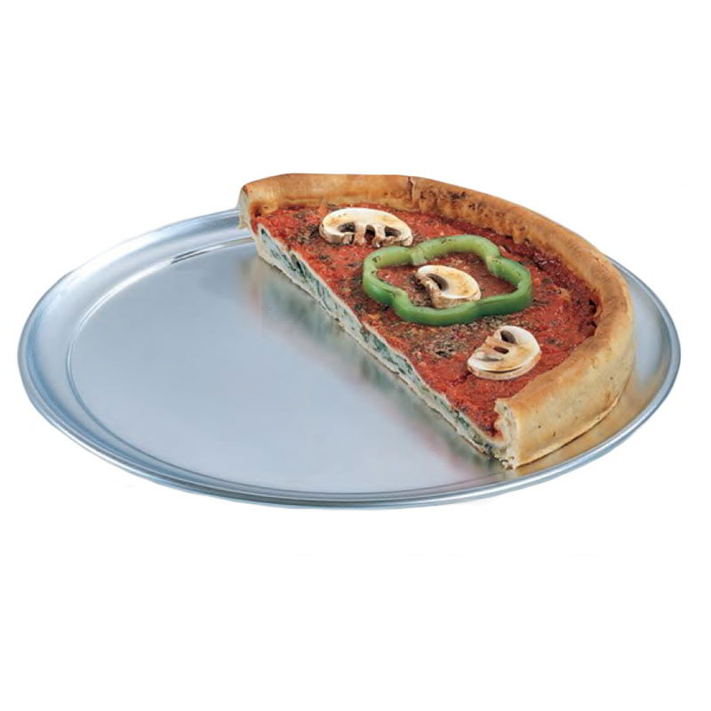 "American Metalcraft TP13 13"" Wide Rim Pizza Pan, Solid, Aluminum"