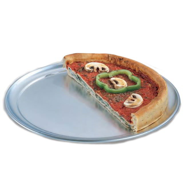 American Metalcraft TP14 14-in Wide Rim Pizza Pan, Solid, Aluminum