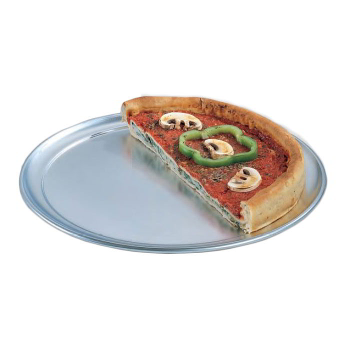 "American Metalcraft TP19 19"" Wide Rim Pizza Pan, Solid, Aluminum"