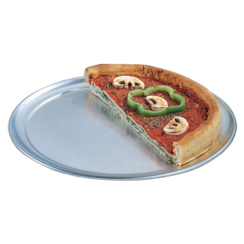 "American Metalcraft TP8 8"" Wide Rim Pizza Pan, Solid, Aluminum"