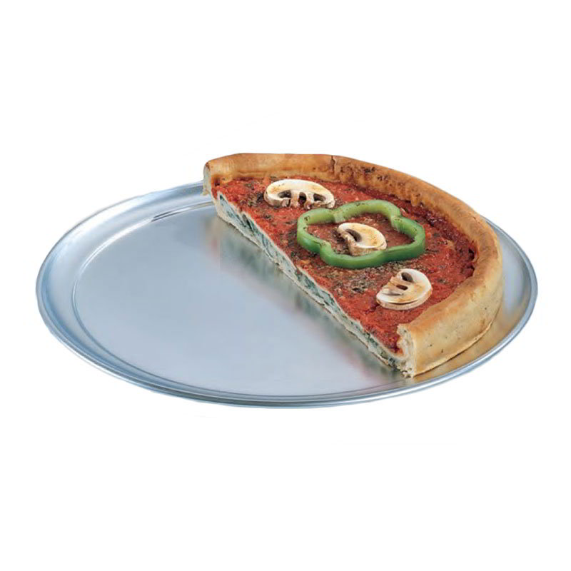 "American Metalcraft TP9 9"" Wide Rim Pizza Pan, Solid, Aluminum"