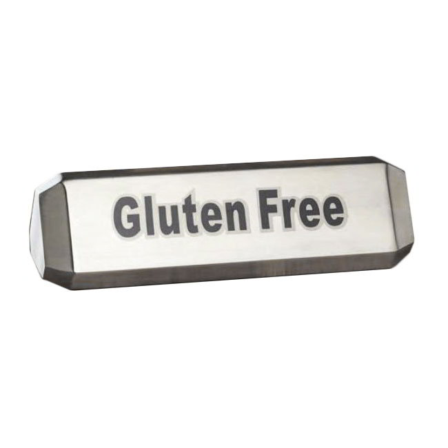 "American Metalcraft TTSVG3 Three-Sided Table Sign - ""Vegan"", ""Vegetarian"", ""Gluten Free"", Stainless"