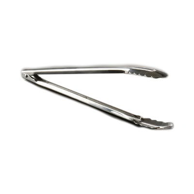 "American Metalcraft UT1200 12"" Utility Tong w/ Tempered Flat Spring, Standard Weight, Stainless"