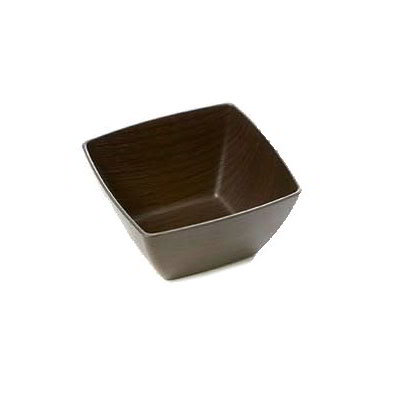 American Metalcraft VDB5 5-in Square Bowl w/ 17-oz Capacity, Polystyrene, Espresso