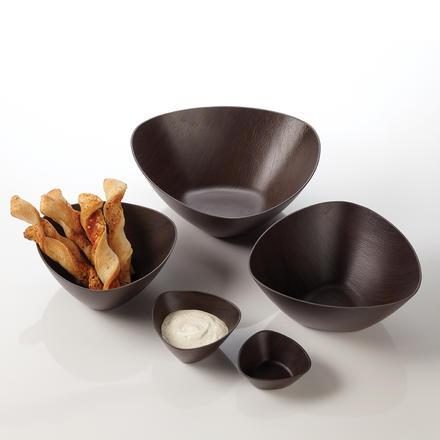 American Metalcraft VDBT04 6-oz Triangular Bowl - Polystyrene, Espresso