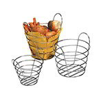 "American Metalcraft WBC705 7"" Round Basket, Wire/Chrome"