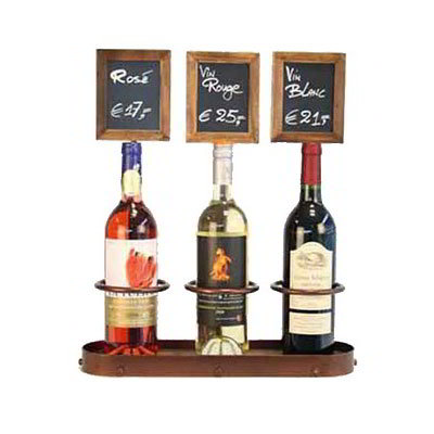 American Metalcraft WBWR3 Wine Bottle Display w/ Chalk Board, 16x19-in, Copper