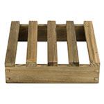 "American Metalcraft WCVS Vidacasa® 9.125"" Square Crate w/ (1) Cell, Walnut"