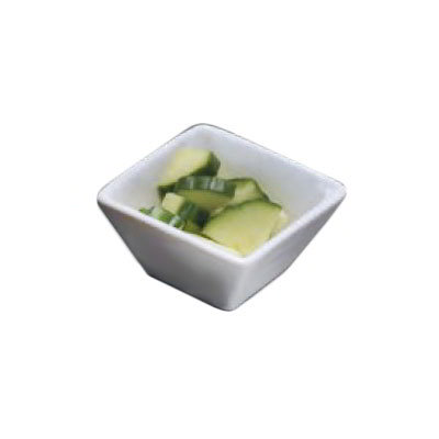 "American Metalcraft WFB3 3"" Square Bowl w/ 3-oz Capacity, White/Porcelain"