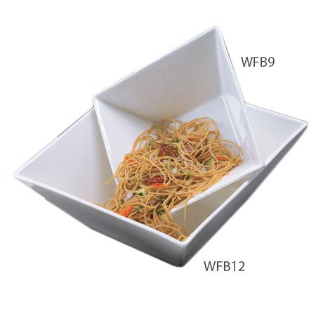 American Metalcraft WFB9 9-in Square Bowl w/ 85-oz Capacity, White/Porcelain
