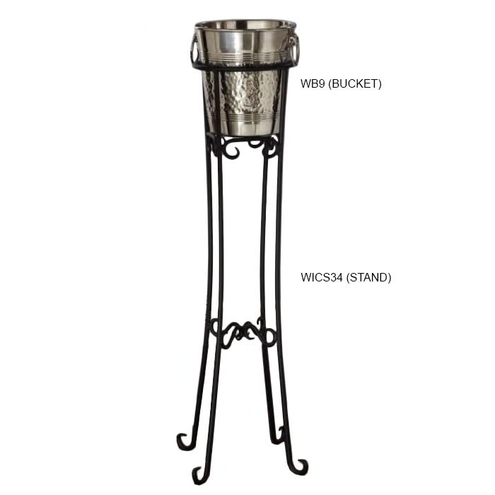 American Metalcraft WICS34 Champagne Stand, Wrought Iron