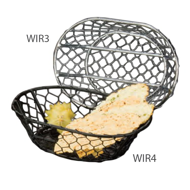 "American Metalcraft WIR3 Wire Basket, 9.5x2.5"", Chrome"
