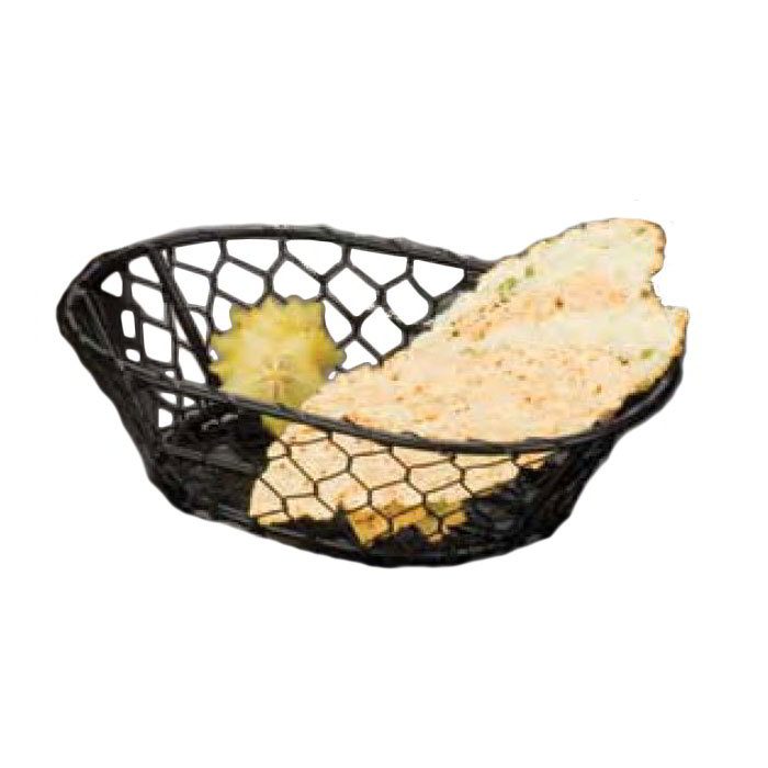 "American Metalcraft WIR4 Wire Basket, 9.5x2.5"", Black"