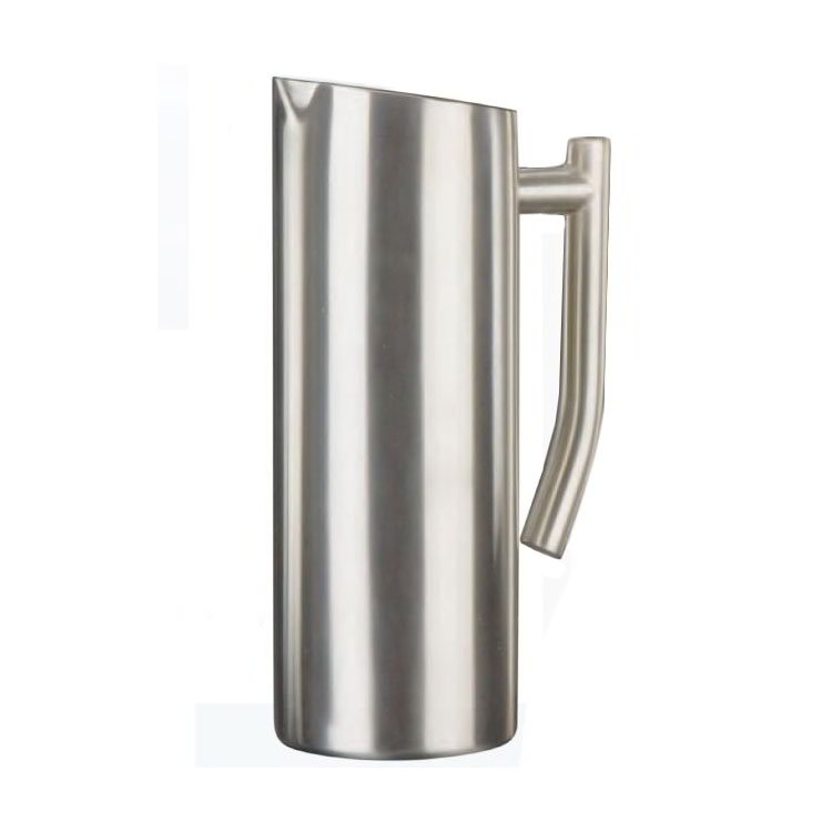 American Metalcraft WPSF33 Contemporary Water Pitcher w/ 33-oz Capacity, Satin/Stainless