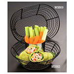"American Metalcraft WSB69 Basket w/ Wavy Side, 6x9"", Mesh"