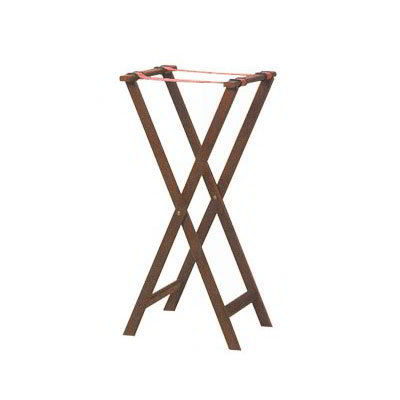 American Metalcraft WTSM38 38-in Folding Tray Stand w/ Nylon Strap, Mahogany