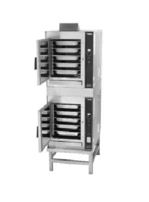 Groen 2-HY-5GF HyperSteam Convection Steamer, Double, 10 Pan, Stand Mount, Gas