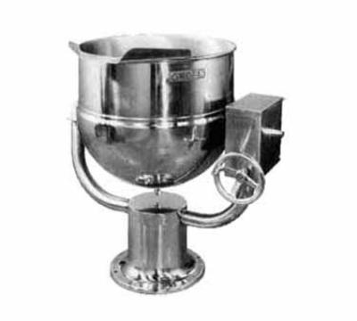 Groen D-20 Tilting Kettle, Direct Steam, 20 Gallon, Pedestal Base, SS