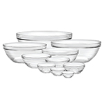 Duralex 100010 10 Piece Lys  Bowl Set w/ Stackable Rim, Clear