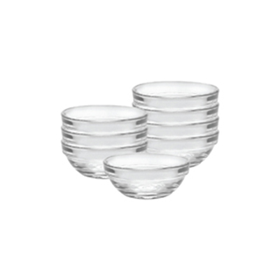 Duralex 2021AC04/8 (8) 2-oz Stackable Clear Bowl - Tempered Glass