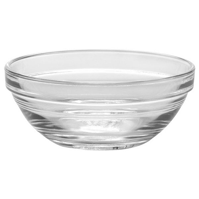 Duralex 2023AF06 6-oz Stackable Lya Bowl, 6-Pack, Glass