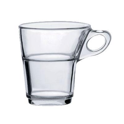Duralex 4026AR06 3.13-oz Caprice Espresso Mug, Clear