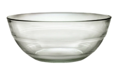 Duralex 510910M93 9 in Lys Mixing Bowl, Clear