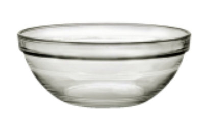 Duralex 511680M98 4-1/8 in Lys Mixing Bowl w/ Stackable Rim, Clear