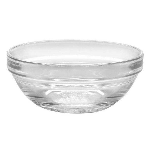 Duralex 511690M98 4-3/4 in Lys Mixing Bowl w/ Stackable Rim, Clear