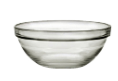 "Duralex 511700C67 2-3/8""Lys Mixing Bowl w/ Stackable Rim, Clear"