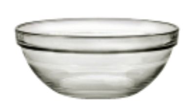 Duralex 511710C67 3 in Lys Mixing Bowl w/ Stackable Rim, Clear